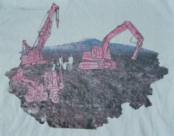 [Detail] A Family Outing at the Canadian Oil Sands, Organic Non-Toxic t-shirt by Blake Peterson + Zoe Phillips