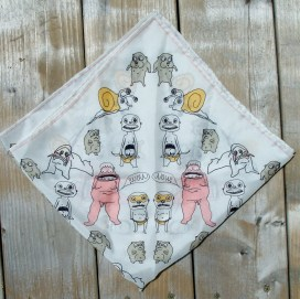"""Detail of """"Little Ones"""" scarf by Zoe Phillips & Blake Peterson"""