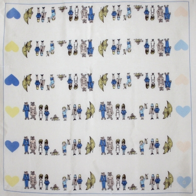 """Title: 'Couples' by Blake Peterson and Zoe Phillips Media: Organic Silk Dimensions: 24"""" x 24"""""""