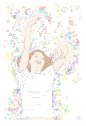 """Title: """"Ecstatic"""" by Blake Peterson (2012) Media: Lithograph Dimensions: 44 x 30 inches Edition Info: 10"""
