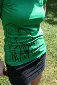 """Dear Deer"", Organic Non-Toxic t-shirt by Zoe Phllips"
