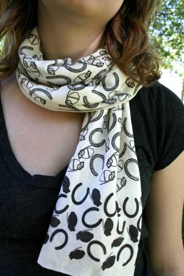 """""""Close Only Counts"""" Organic, Non-Toxic Graphic Scarf by Blake Peterson + Zoe Phillips"""