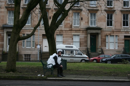 "Title: ""Lost Sheep in Glasgow (Waiting)"" Artist: Blake Peterson + Zoe Phillips Media: Large Format Digital Photograph Dimensions: 23.4"" x 33.1"" Year: 2011"