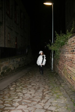 "Title: ""Lost Sheep in Glasgow (She-Sheep in Dangerous Situation)"" Artist: Blake Peterson + Zoe Phillips Media: Large Format Digital Photograph Dimensions: 23.4"" x 33.1"" Year: 2011"