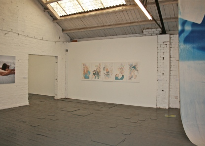 Set of five giclée prints from the larger series, as installed at the Glue Factory, Glasgow, June 2012.