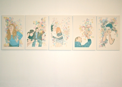 Set of five giclée prints from the larger series, as installed at the Glue Factory, Glasgow, May 2012.