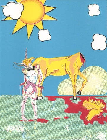 "Title: ""the Story of the Unicorn"" by Blake Peterson (2009) Media: Lithograph Dimensions: 9.5 x 7.5 inches Edition Info: 10"