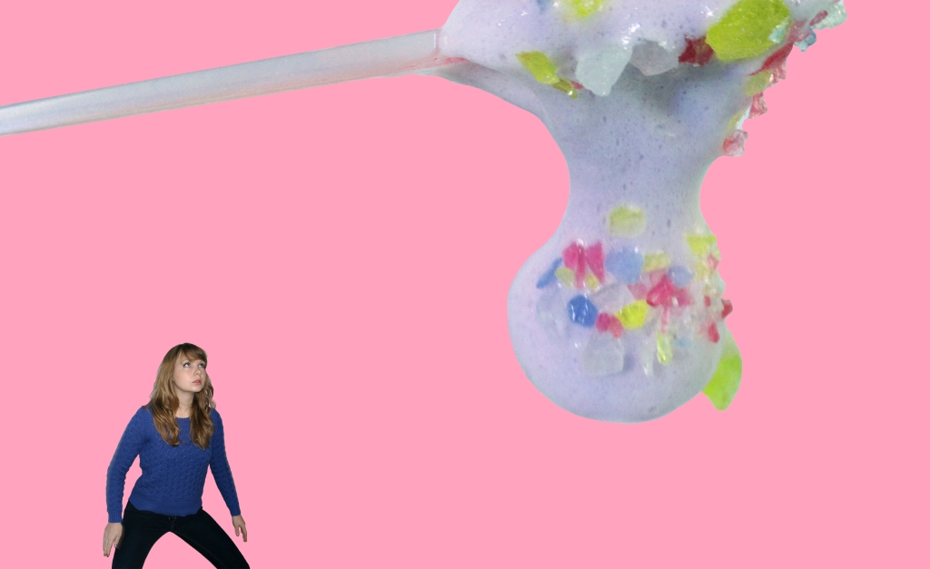 "Title: ""Zoe + Candy"" by Blake Peterson and Zoe Phillips 2014 Media: Digital Photomanipulation Dimensions: 11 x 17 inches Edition Info: N/A"