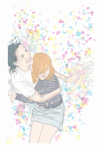 """Title: """"Jen + Zoe"""" by Blake Peterson (2012) Media: Lithograph Dimensions: 44 x 30 inches Edition Info: 10"""