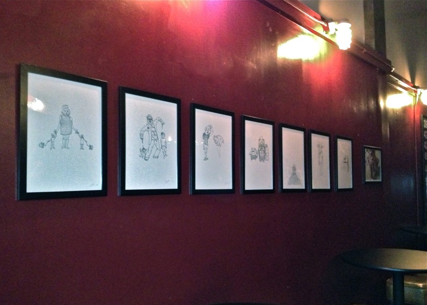 Preview of works at Black Sheep (image taken during installation)