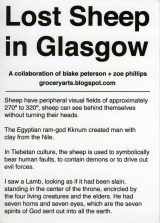 """Title: """"Sheep Information Card"""" (Back) Media: Photograph on Card Dimensions: 5"""" x 7"""""""