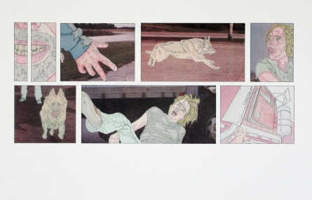 """Title: """"Scene 8: What Happened Next"""" by Blake Peterson (2010) Medium: Lithograph Dimensions: 11 x 17 in Edition Info: 15"""