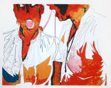 "Title: ""Vampires"" by Blake Peterson (2009) Media: Lithograph Dimensions: 8 x 10 inches Edition Info: 15"