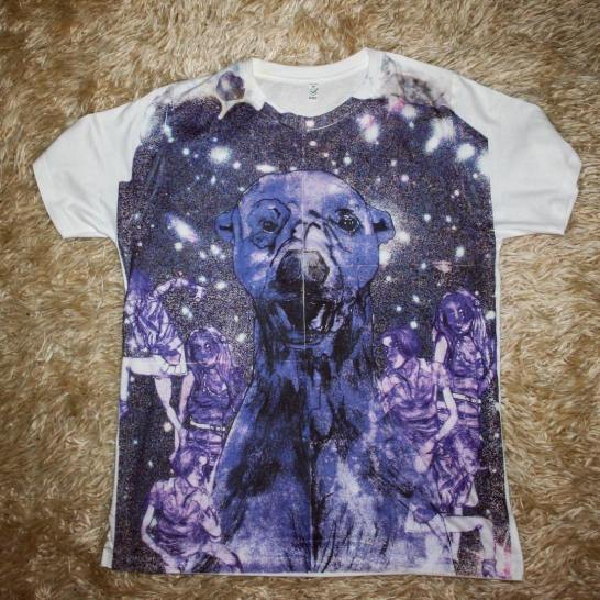"""""""Polar Bear in Space"""" T-Shirt by Zoe Phillips and Blake Peterson"""