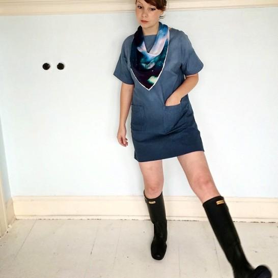 Zoe in Prototype Dress