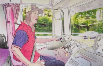 "Title: ""Scene 2: On the Road "" by Blake Peterson (2010) Medium: Lithograph Dimensions: 11 x 17 in Edition Info: 15"